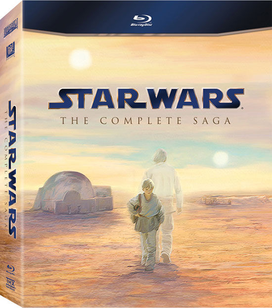 Star Wars: The Complete Saga on Blu-ray cover