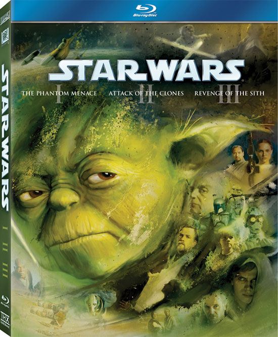 Star Wars: Episodes I-III on Blu-ray cover