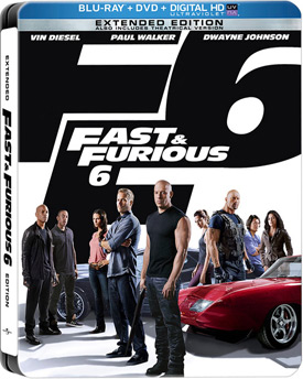 Fast and Furious 6 Blu-ray Steelbook cover