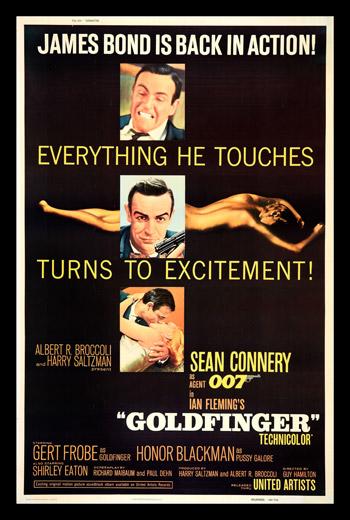 Goldfinger 1964 Sean Connery Movie Trailer Cast Plot