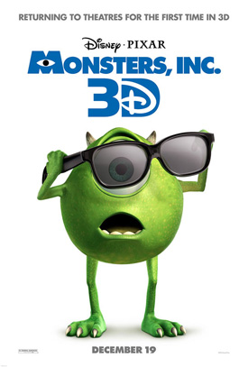 Monsters Inc. 3D movie poster