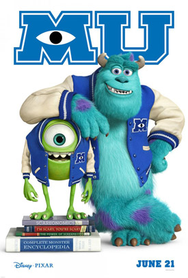 Monsters University movie poster