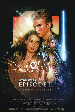 Star Wars Episode II Attack of the Clones 3D movie poster