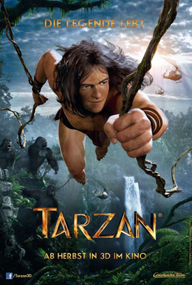 Tarzan 3D movie poster