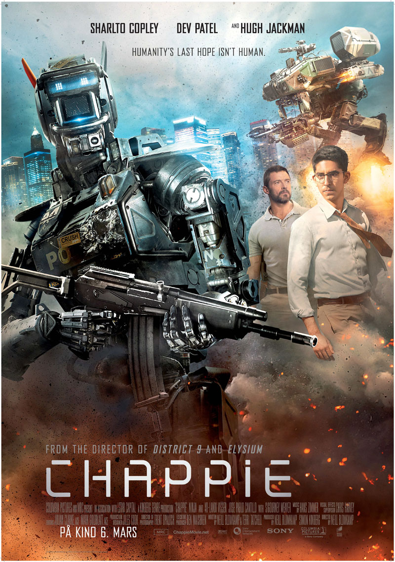 chappie movie poster 2 Chappie 2015