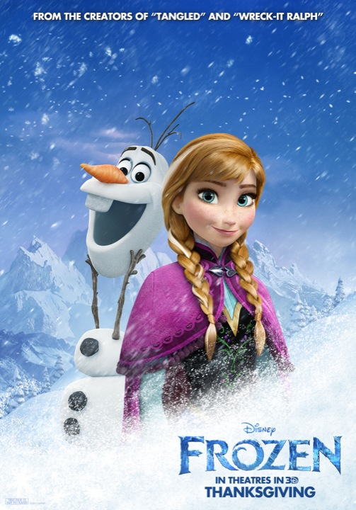 Frozen character poster 1