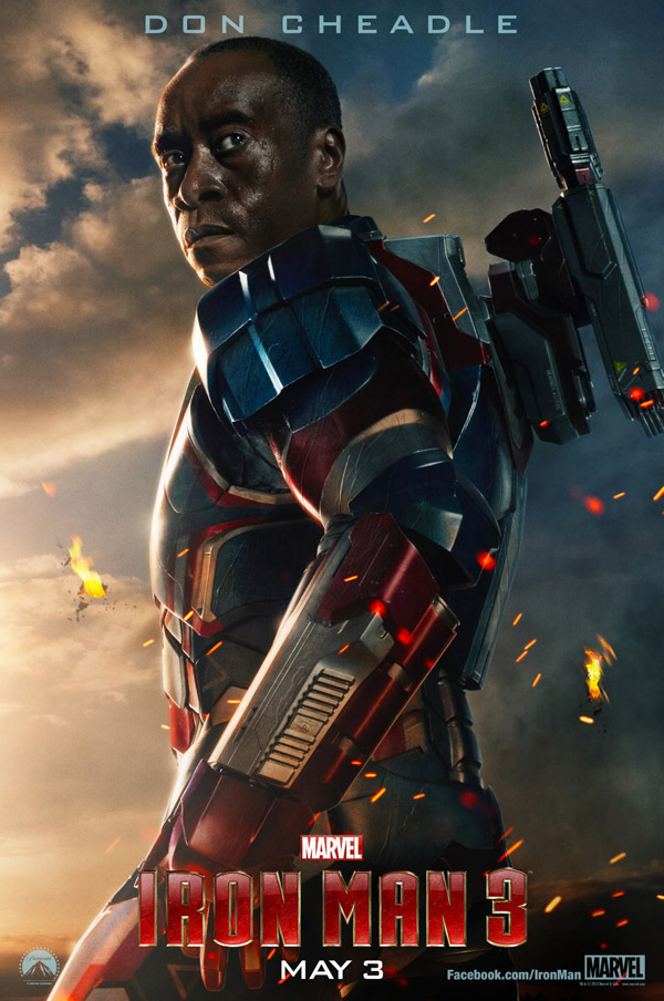 Don Cheadle Iron Man 3 movie poster