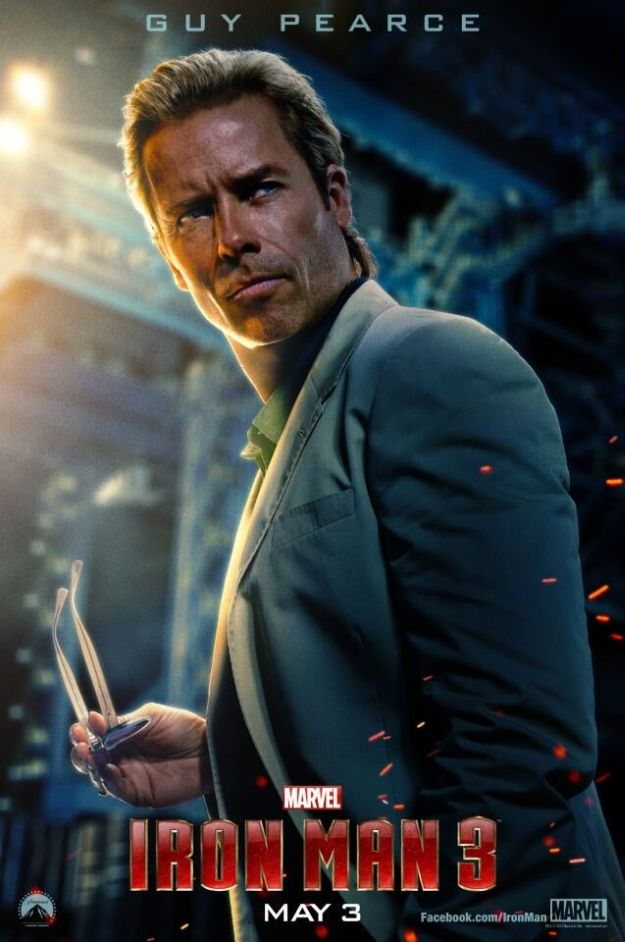 Guy Pearce Iron Man 3 movie poster