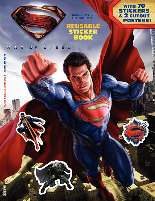 Man of Steel Reusable Sticker Book