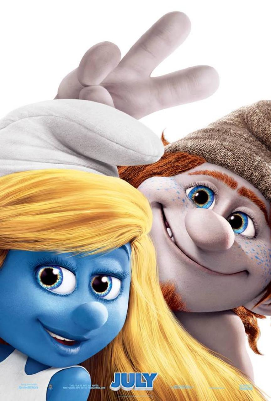 The Smurfs 2 Character Poster Hackus and Smurfette