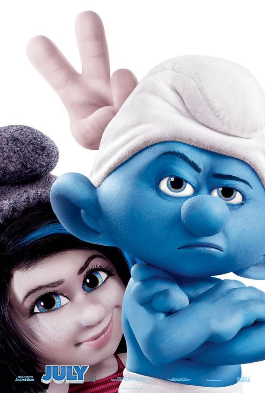 The Smurfs 2 Character Poster Vexy and Grouchy Smurf
