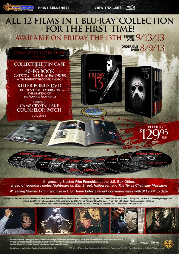 Friday The 13th: The Complete Collection Blu-ray Sell Sheet