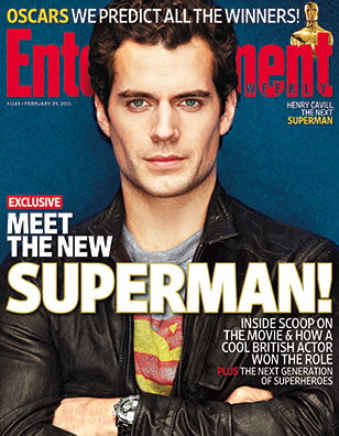 Henry Cavill EW Superman cover