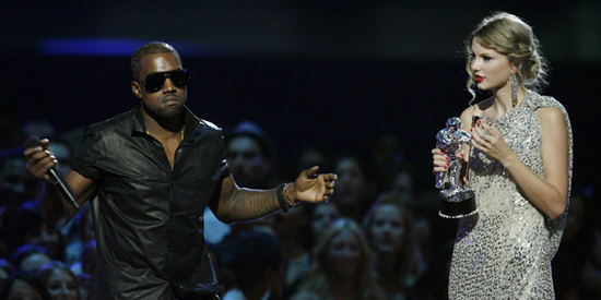 Kanye West and Taylor Swift VMAs