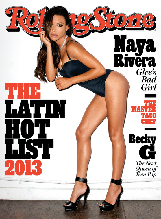 Naya Rivera on the cover of Rolling Stone