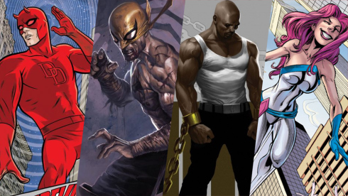 Daredevil, Luke Cage, Iron Fist, Jessica Jones