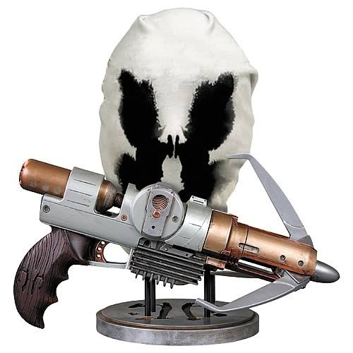 Watchmen Movie: Rorschach Grappling Gun and Mask Prop Replica Set
