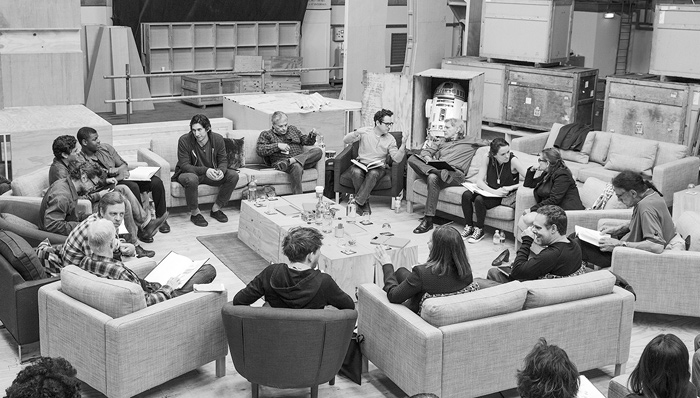 Star Wars: Episode VII cast photo