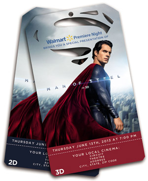 Man of Steel Walmart Advance Tickets