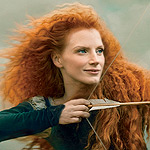 First Look: Jessica Chastain as Merida from Disney's Brave