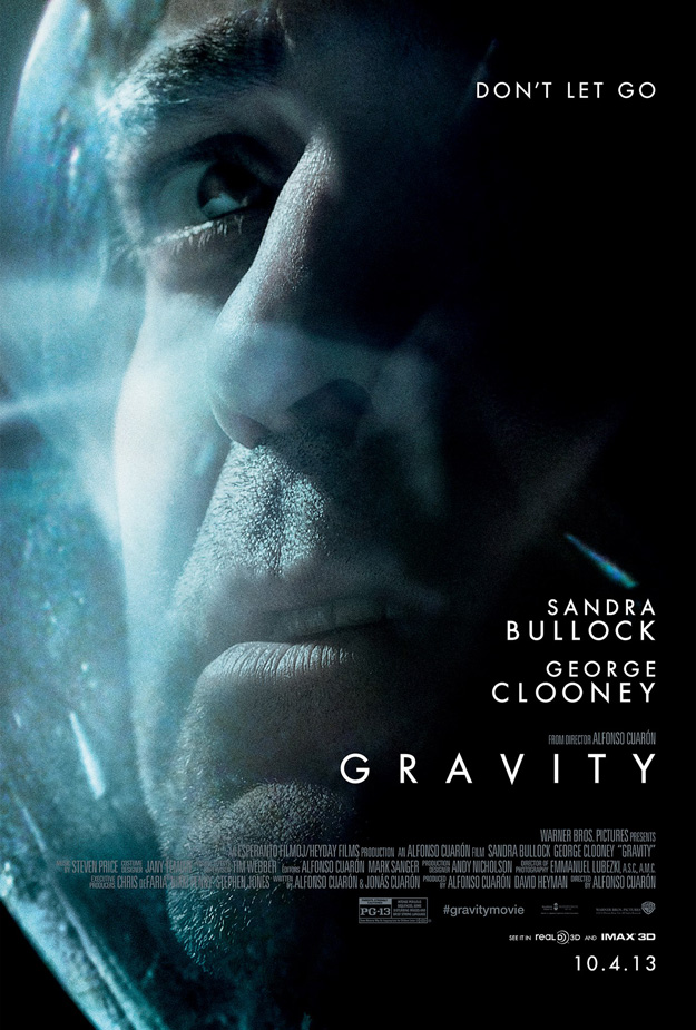 Two Character Posters for 'Gravity' Starring George Clooney, Sandra Bullock
