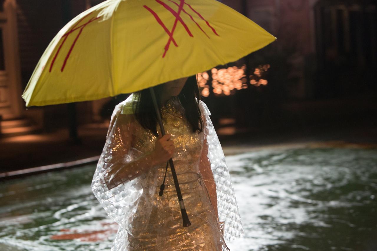 Pom Klementieff umbrella Oldboy