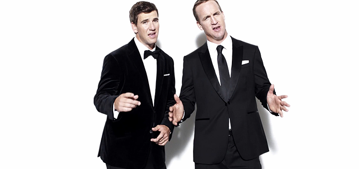 Peyton and Eli Manning Rap in 'Fantasy Football Fantasy' Video