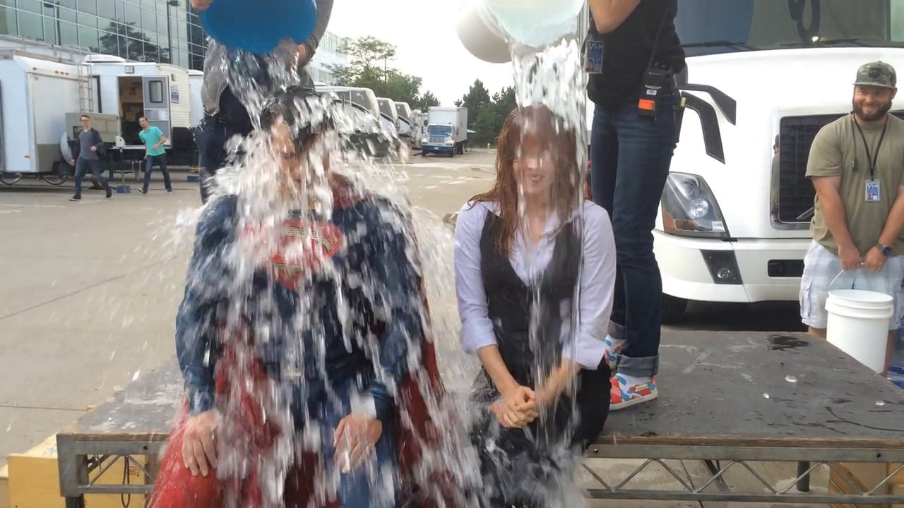 Superman and Lois Lane Take the ALS Ice Bucket Challenge!
