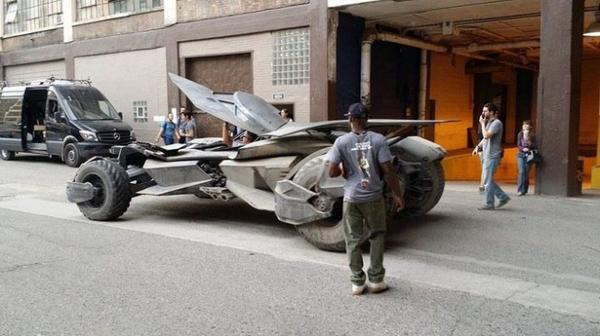 Batmobile Spotted on Batman v Superman Set!