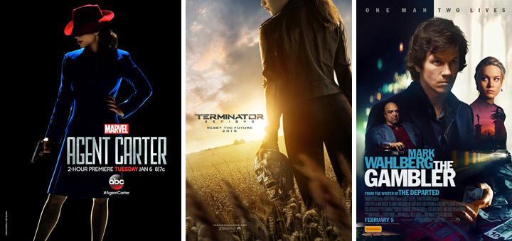 New Posters for The Gambler, Agent Carter, The Walk and More