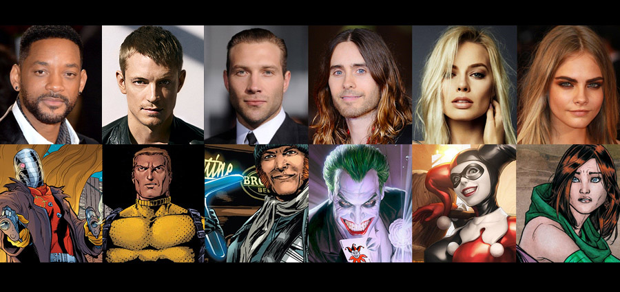 The Official Cast of DC Comics Suicide Squad Movie Announced