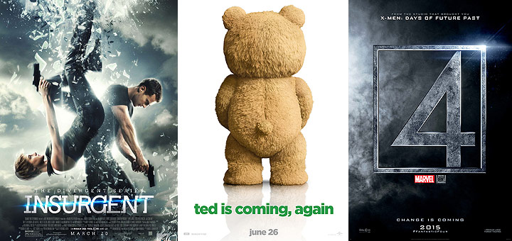 New Posters for Insurgent, Ted 2, The Duff, San Andreas and More