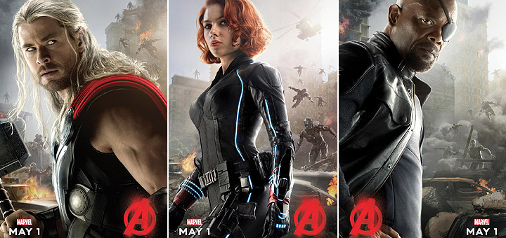 Thor, Black Widow and Nick Fury Get Character Posters for Avengers: Age of Ultron