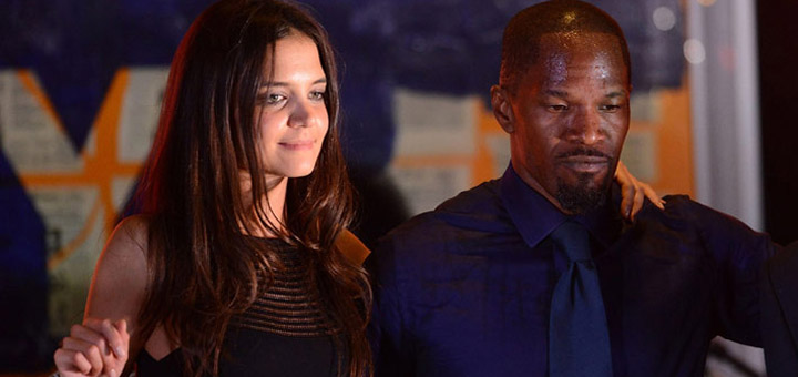 Jamie Foxx and Katie Holmes Working on Animation Project
