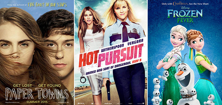 New Posters for Frozen Fever, Hot Pursuit, Paper Towns, Furious 7 and More