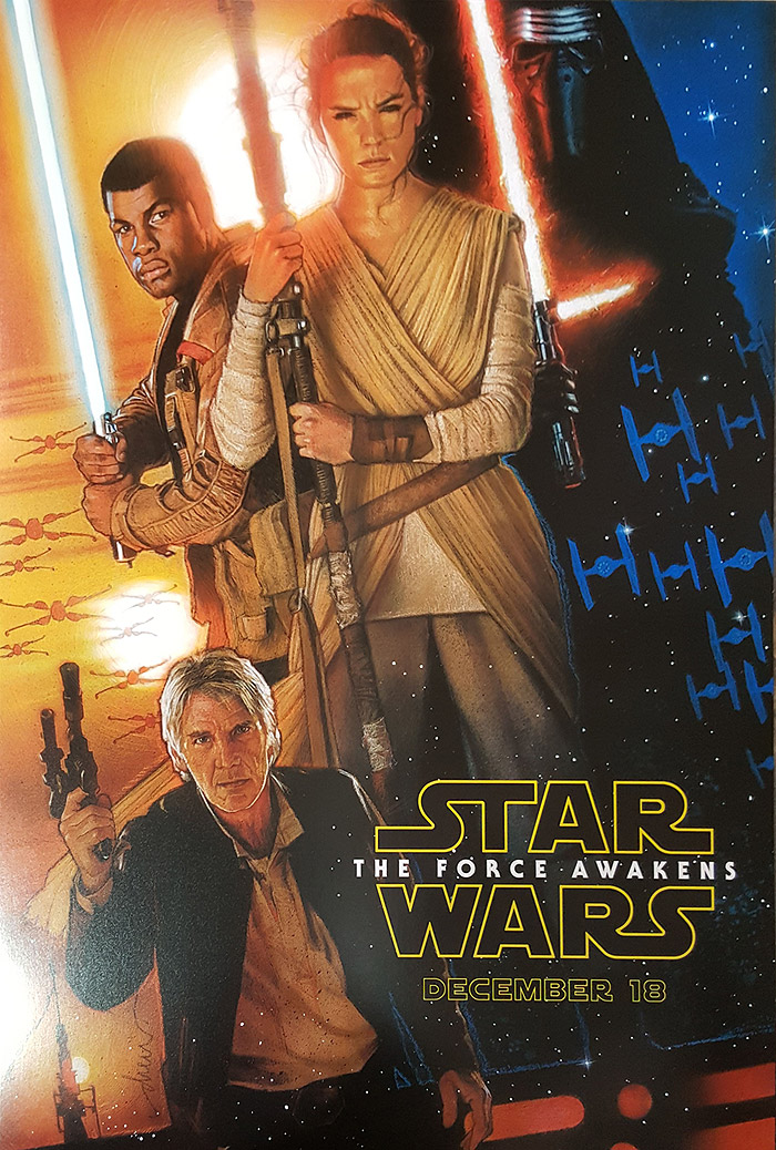 Star Wars: The Force Awakens Drew Struzan Poster