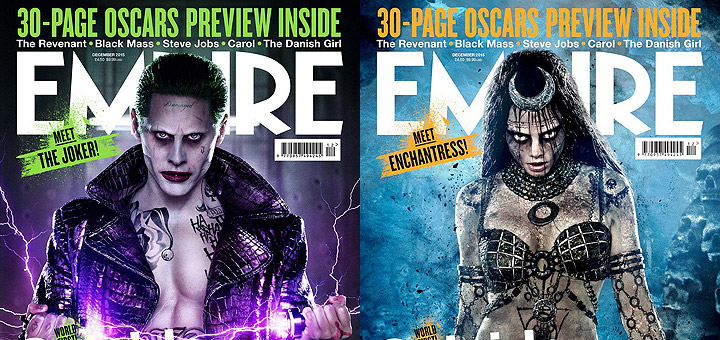 Suicide Squad: New Joker and Enchantress Empire Covers