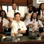 Migos and Jimmy Fallon Perform 'Bad and Boujee' With Office Supplies