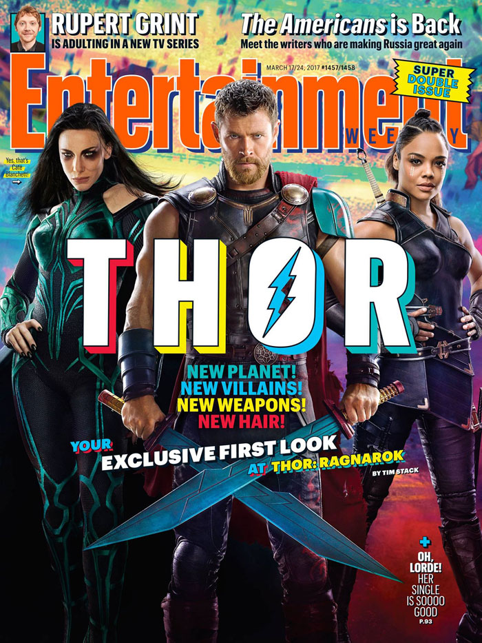 Thor: Ragnarok Entertainment Weekly Cover