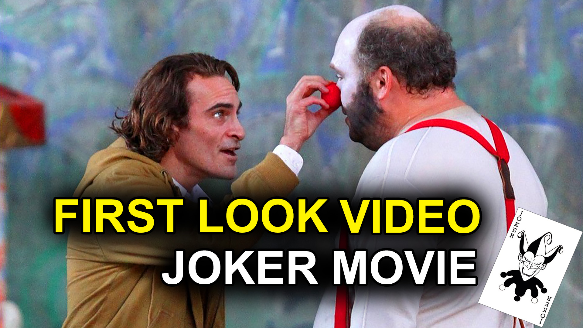 First Look Video of Joaquin Phoenix as DC's The Joker