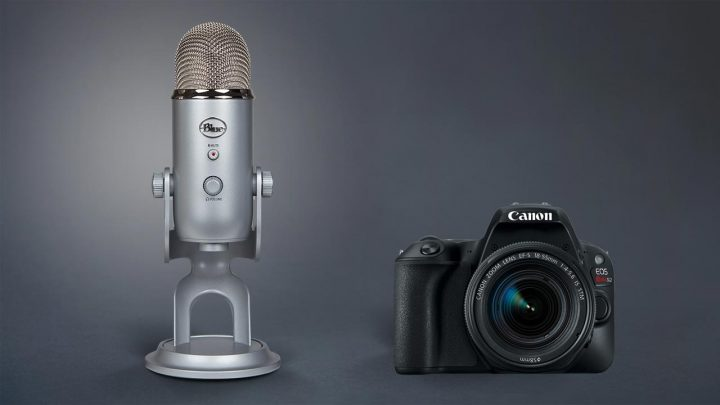 USB microphone to DSLR